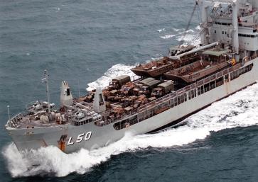 HMAS-TOBRUK-WITH-ARMY-VEHICLES