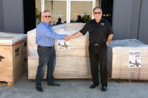 Paul Strike (Caribou Cargo) and Stephen Byrne (Milspec Services)